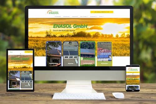 Webseite der ENASOL GmbH